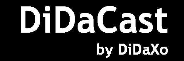DiDaCast Corporate Logo blanc alpha Big